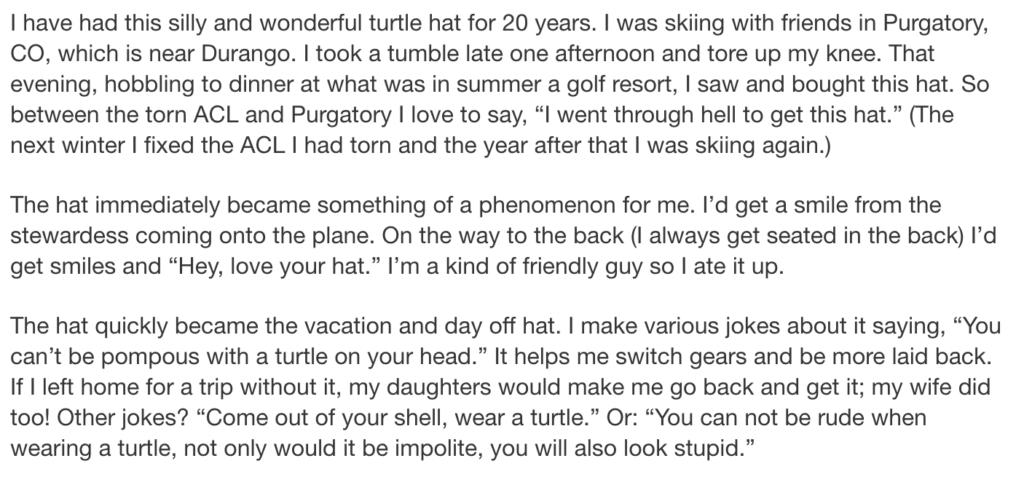 turtle hat creative copy