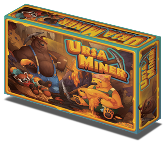 Ursa Miner tabletop game box from Eli Kosminsky