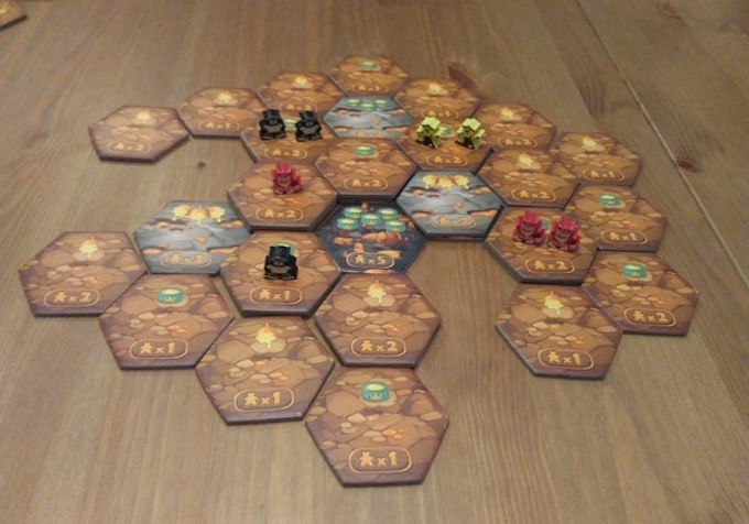 Tabletop game Ursa Miner game pieces and meeples