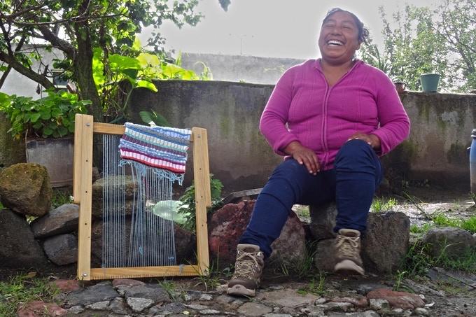 agua de luna mexican woman textile design
