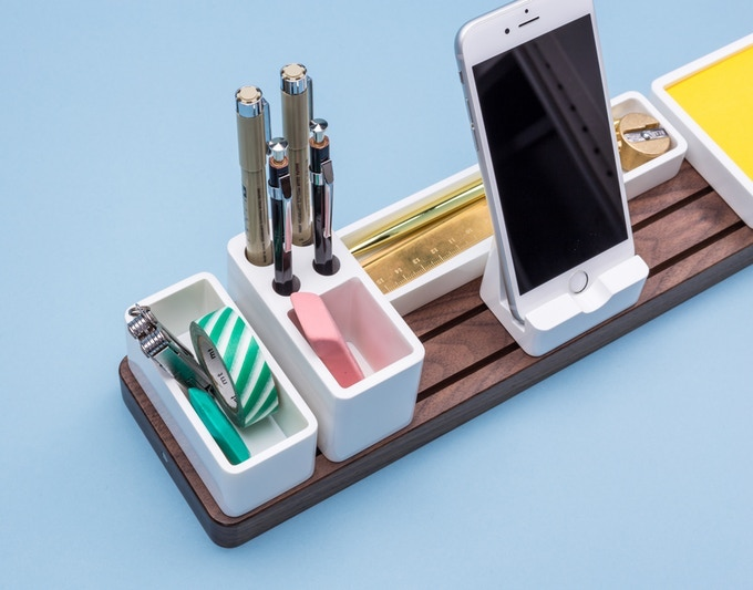 a high-quality modular desk organizer