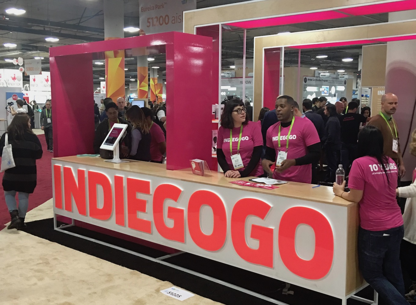 indiegogo at ces 2018 crowdfunding booth