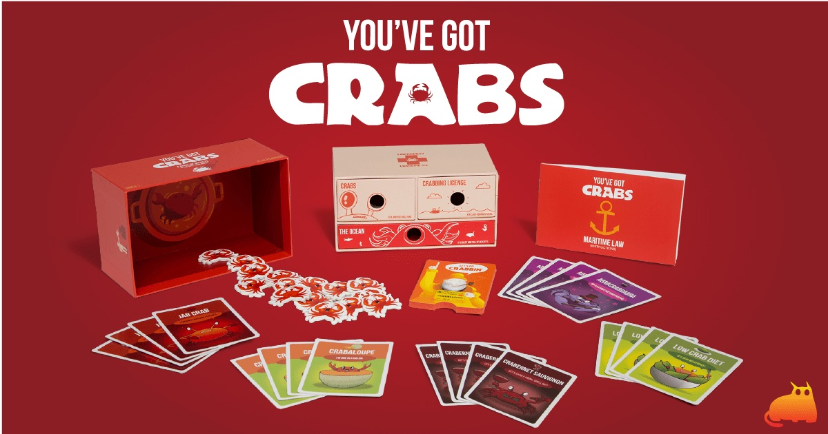 Imitation Crab Expansion Kit for You/'ve Got Crabs Card Game Claws Card Board