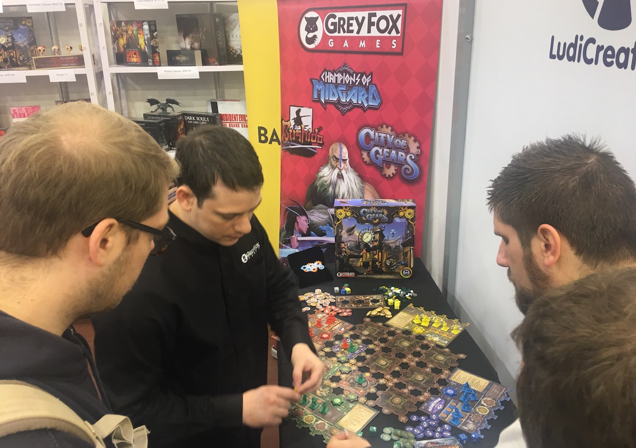 city of gears tabletop game essen spiel 2018