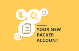 new backerkit backer account