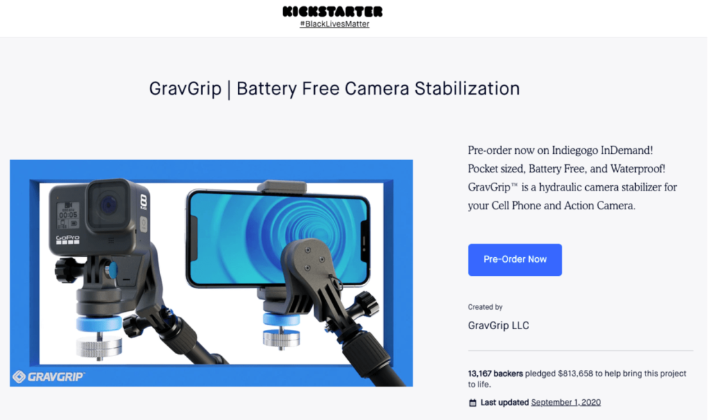 gravgrip crowdfunding